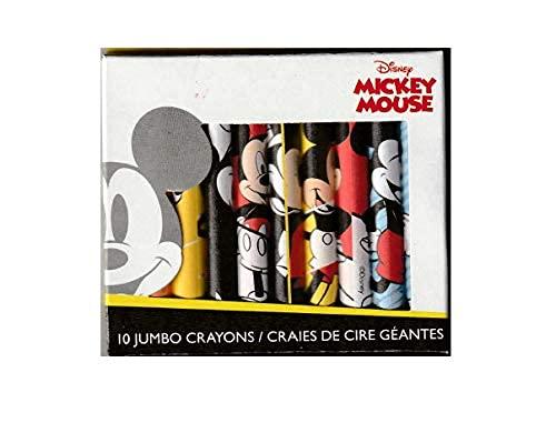 10 Jumbo Mickey Mouse Crayons