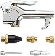 WYNNsky Air Nozzle Blow Gun Kit, Lever Air Blow Gun, Rubber Tip, Air Needle, Strata-Flo Satety Nozzle, Standard Nozzle, Adapt Tip, 6 Pieces Air Compressor Accessories Kit