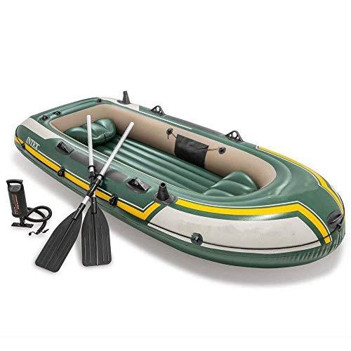 ZWJ-JJ Kayak Multi-Persona Barco de Goma Inflable Durable Engrosamiento Kayak Inflable al Aire Libre del Barco de Pesca Barco de la Deriva for Vacacionar (Color: Verde, Tamaño: 295x137x43 cm)