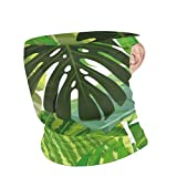 Face Cover Seamless Background with Tropical Leaves 10