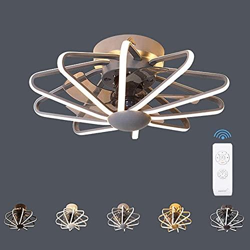 Ventilador De Techo Con Luz Lámpara Iluminación,112W Φ58*H22.5cm Luz de Techo LED Creativo Moderna con Control Remoto,3 Velocidad Viento,Regulable Invisible Luces,Interiores Iluminación Decorativa