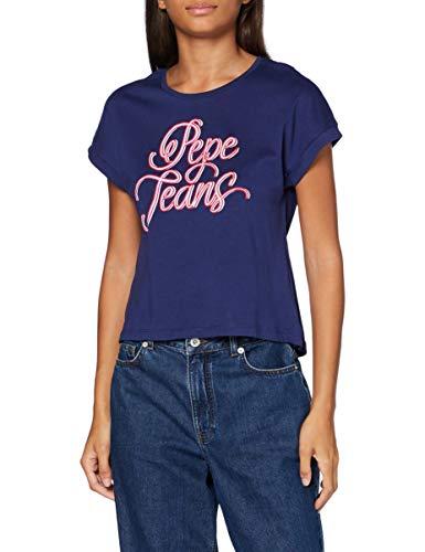 Pepe Jeans Alberta Camiseta, Azul (Scout Blue 571), X-Small para Mujer