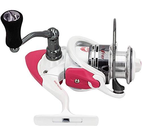FISHINGFAY ROLOYA Reel 2000 Carrete Giratorio Angel Ideal para Cualquier caña con un Peso de Lanzamiento Entre 20-80 gr o como caña de Remolque, Lucio, bagre, lucioperca, Bacalao o salmón
