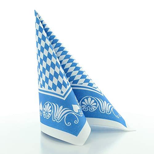 Sovie HORECA Oktoberfest-Deko Serviette | Bavaria Raute | 40x40 cm 50 STK | Linclass® Airlaid | Wiesn Festzelt Bayrisch (Blau)
