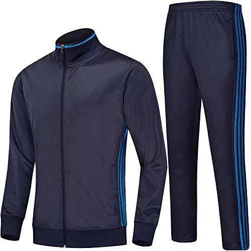 Heren trainingspak voetbal lange mouwen jas & broek trainingspak set volwassenen kinderen jongens cadeau sportswear comfortabel ademend
