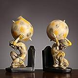 hacpigbb Bloque De Libro Creativo Figura Animal Edificio Construcción De Final De Lectura Final Estatua Decoración Artesanía Decoración del Hogar Regalo Pintado A Mano Resina - Forma 8