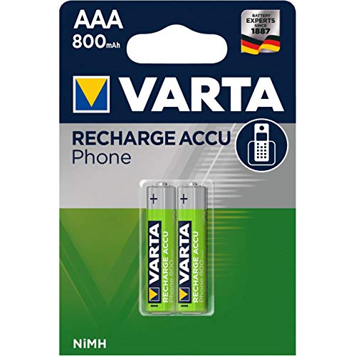 Varta Micro AAA Akku für DECT-Telefone 800mAh 2er Blister, 1,2V, NiMH