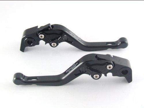 Strada 7 Racing Court Réglable Leviers Paire Noir pour Kawasaki Ninja 650R (ER-6f ER-6n)