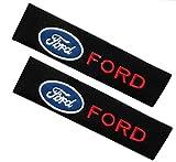 LDXCT 2 Piezas de diseño de Seguridad Interior del automóvil, Almohadillas Protectoras para el cinturón de Seguridad y Almohadillas Protectoras para Ford Fiesta Focus Mondeo Kuga.
