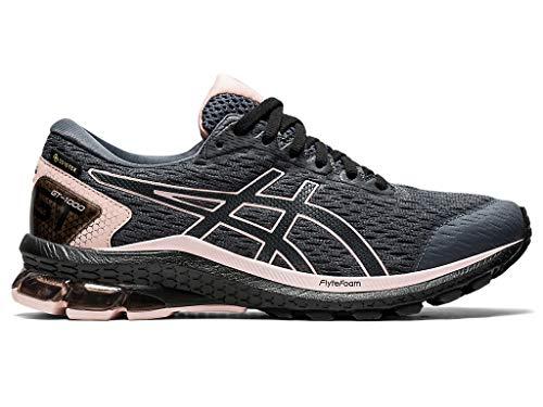 ASICS Women's GT-1000 9 G-TX Running Shoes, 9.5M, Carrier Grey/Ginger Peach