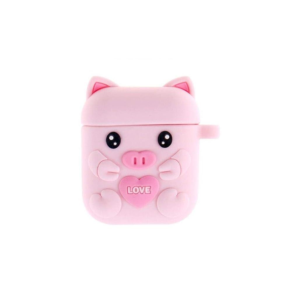検出器姉妹注ぎますWXZD Bluetoothヘッドセット漫画ケース、Airpodsかわいい漫画シリコンイヤホンボックス 最高の贈り物 (Color : Pink)