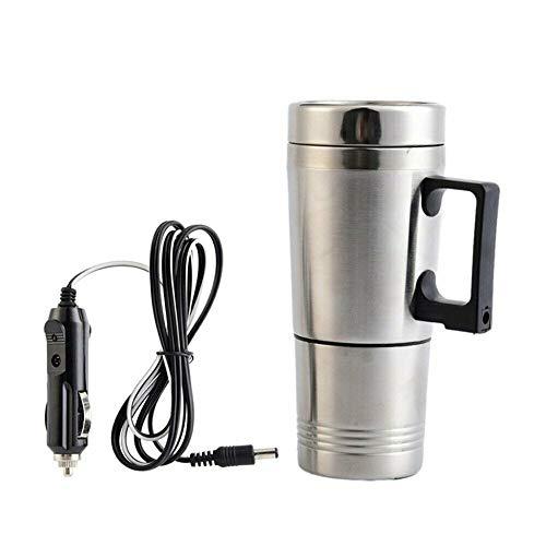 Reisebecher für Auto 12 V 350 ml Auto beheizt Edelstahl Elektrische Heizung Kaffee Tee Auto