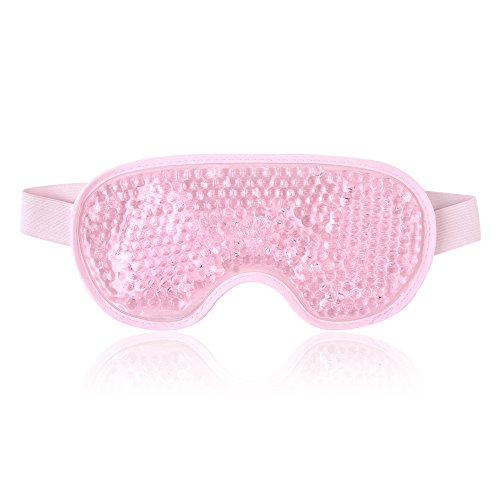 Kühlend Augenmaske Kühlmaske Kühlpads Gel Augenmaske für Die Augen, Migräne, Geschwollene Augen, Trockene Augen und Kopfweh - Rosa