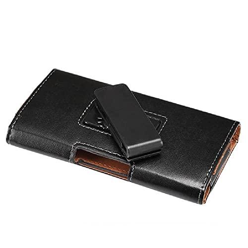 DFV mobile - Funda Cinturon Ejecutivo con Clip Giratorio 360 Piel Sintetica y Cierre magnetico para Wolder Wiam #24 - Negra