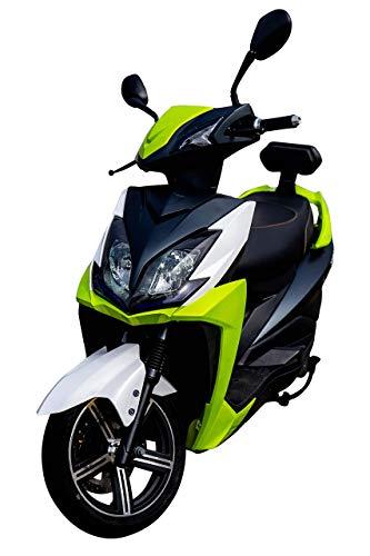 Elektroroller FALCON, 3400 Watt, E-Scooter, Elektro-Roller, E-Roller mit Straßenzulassung, 45 km/h, herausnehmbarer Lithium-Akku, 80 km Reichweite, Produktvideo, Grün