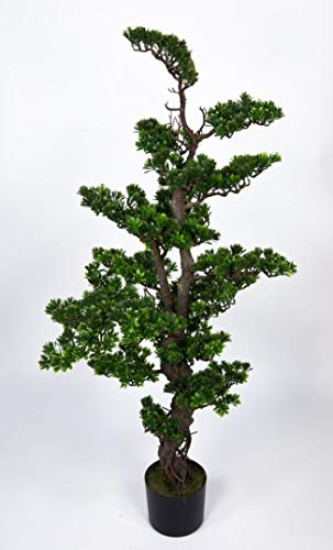 Seidenblumen Roß Bonsai 130x60cm GA künstlicher Baum Kunstbaum Kunstpflanzen Dekobaum