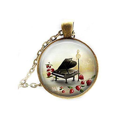 Elf House - Collar de piano para bebé, diseño de llaves de