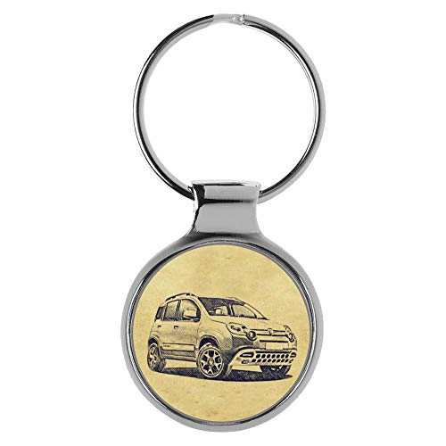 mächtig Fiat Panda Stoff 4 × 4 Fan A-5211 KIESENBERG Schlüsselbund Geschenk
