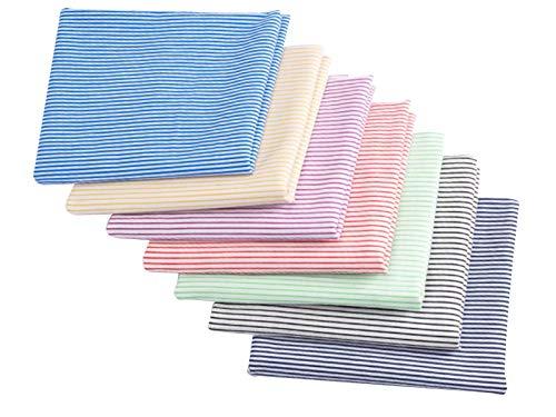 MAGFYLYDL Tela Algodon Infantil Patchwork De Bebé 50 × 50 Cm, 100% Algodón, Utilizado para Pañales para Bebés, Toallas De Saliva, Edredones