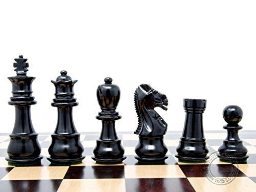 House of Chess - Ebonized / Boxwood Galaxy Staunton Wooden Chess Set Pieces King Height 3