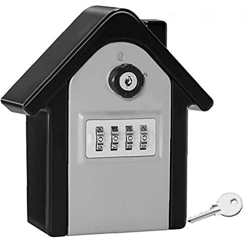 Caja fuerte de la combinación de teclas segura, llave de seguridad montada en la pared de servicio pesado al aire libre, un gran almacenamiento interno para llaves de la casa u oficina con