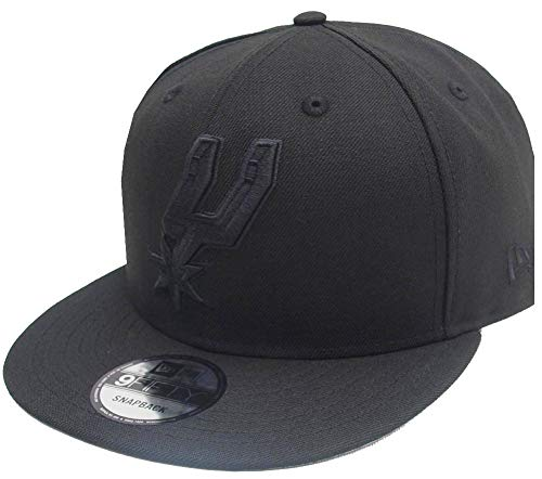 New Era San Antonio Spurs Black On Black NBA Snapback Cap 9fifty 950 OSFA Exclusive Limited Edition