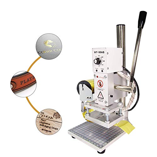 BAOSHISHAN Máquina de Estampado en Caliente Máquina de Estampado en Relieve Máquina de Bronceado que Arruga Impresora de PVC de Cuero con Soporte de Lámina 8 cm * 10 cm 220 V