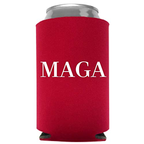 Trump 2020 MAGA Beer Coolie | Funny Gag Party Gift Beer Can Cooler | Funny Joke Drink Can Cooler | Trump Liberal Tears Beer Beverage Holder | Beer Gifts | Quality Foam Can Cooler (MAGA)