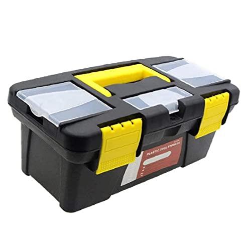 Caja de herramientas de plástico portátil Equipo de seguridad Equipo de instrumentos Maleta de impacto Maleta herramientas de almacenamiento al aire libre 10 pulgadas 2 Capa, Mantenga, todos