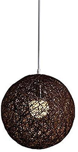 JIAN Exquisite Lighting ZjNhl wit van bamboe, rotan en hennep van de bol van de lamp, individueel creatief, bolvormig, rotan, lampenkap (kleur: roze)