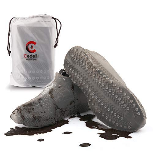 Cedelli®Rainwear   1 Set L   Silikon Überschuhe für Damen & Herren   Mehrweg Schuhüberzieher Regenüberschuhe Wasserdicht