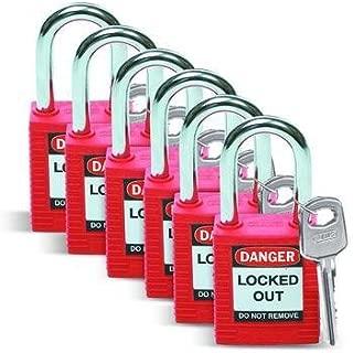 51339 - Keyed Different - Safety Padlock, Brady - Pack of 6