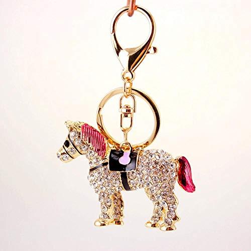 Unieke kristallen paard strass metalen sleutelhangers houder handtas hanger mode sleutelhangers sleutelhangers voor auto beste cadeau