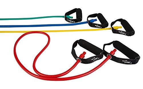 DITTMANN Body Tube Deluxe Fitnessband Expander rot/stark Schaumstoffgriff