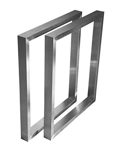 CHYRKA Tischgestell Edelstahl 201-40x20 Rahmentisch Kufengestell Tischkufe Tischuntergestell (720x600 mm - 1 Paar)