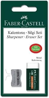 Faber-Castell 5500185685 Faber- Castell Metal Kalemtraş + Silgi Seti