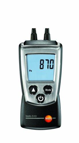 Testo AG 0560 0510 510 handliches Differenzdruck-Messgerät, inklusive Schutzkappe, Kalibrier-Protokoll und Batterien