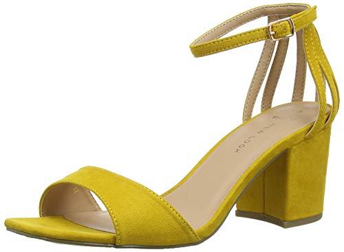 Zapatos amarillos de tacón ancho para Mujer
