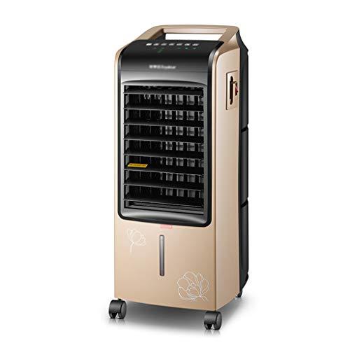 Luftkühler Heimluftkühler Leiser Mobiler Lüfter Mobile Dual-Use-Klimaanlage Zum Heizen Und Kühlen (Color : Gold, Size : 30.5 * 29 * 74.5cm)