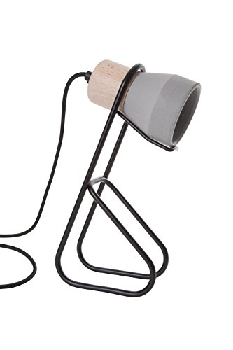 Specimen SPE140216 Cément Wood Lampe à Poser Métal 15 W E14 Noir