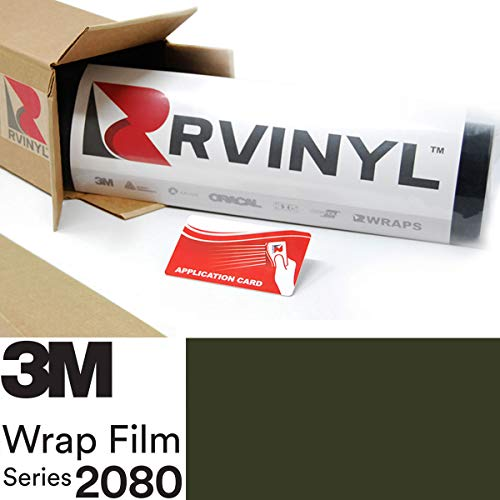 3M 2080 M26 Matte Military Green 5ft x 1ft W/Application Card Vinyl Vehicle Car Wrap Film Sheet Roll