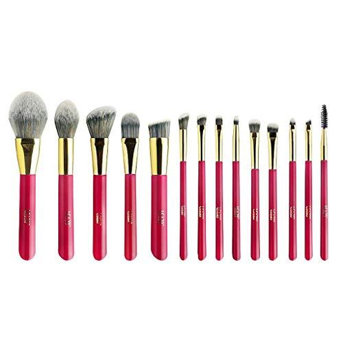 LHY- Lot de 14 pinceaux de maquillage - Poils souples - Poudre douce - Fard à paupières - Ensemble professionnel tendance