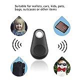 Mini 4.0 GPS Traker Localisateur de Gouttes d'eau Portable Anti-Perdu Key Finder Pet Tracker Alarme bidirectionnelle Dispositif antivol+Noir