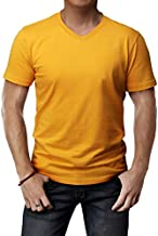 H2H Mens Formal Working Office Short Sleeve Top Mustard US XL/Asia 2XL (CMTTS0197)
