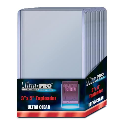 "Ultra Pro 3"" X 5"" Toploader 25ct"