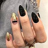 CAONIDAYE 24 unids/Set Cielo Azul Nube Blanca diseño de patrón de uñas FalsasStiletto Cubierta Completa Pegamento de uñas Falsas DIY manicura Herramientas de Arte de uñas 5