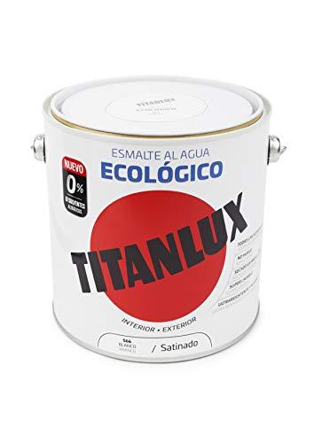 Titanlux - Esmalte agua ecologico santinado, Blanco, 2,5L (r