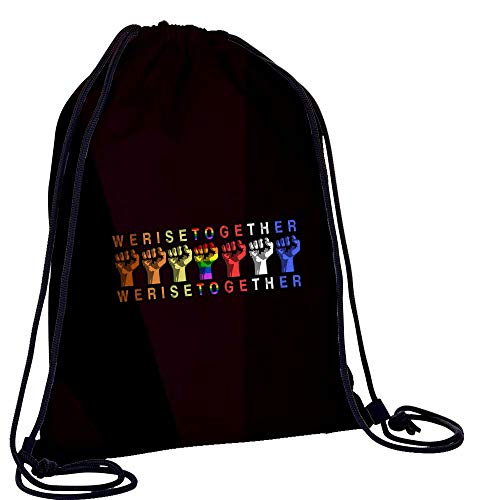L-RIN Fashion Casual Drawstring Backpack We Raise Together Travel...