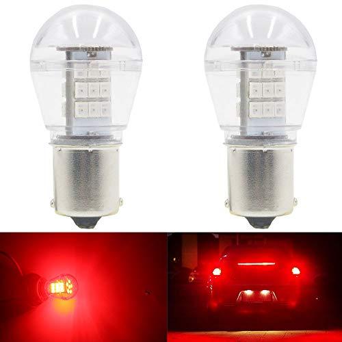 AMAZENAR Paquete de 2 1156 BA15S 1141 1003 7506 1073 Luz LED Roja Extremadamente Brillante 9-30V-DC, 2835 33 SMD Bombillas de Repuesto para Lámparas de luz de Freno de Cola