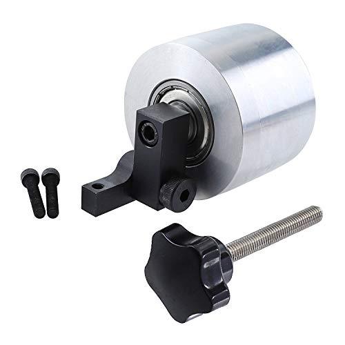 SZMYLED Bandschleifer Rad φ68 x 50 mm Lager 12 mm Durchmesser Antriebsrad für Schleifmaschine Aluminium Kontaktrad Silber